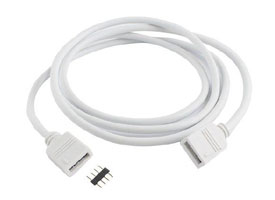 Dual white led strip connector