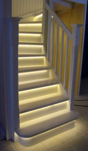 led strip toepassingen onder de trap treden